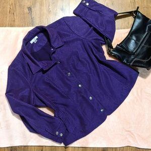 CJ Banks Woman's corduroy jacket, plum 2X